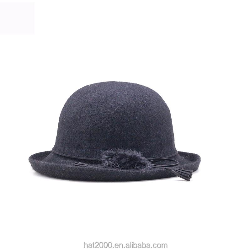 dc819f50db591 100% Wool Felt Bowler Hat