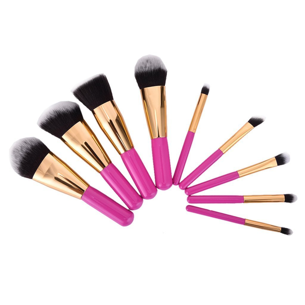 Redcolourful 9Pcs Practical and Fashionable Cosmetic Makeup Brushes Multifunctional Makeup Brushes Set Tools