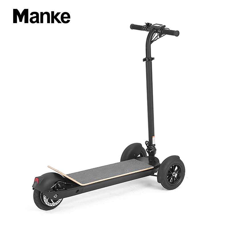 2019 china wholesale manke new model folding 3 wheel electric scooter 8.5 vacuum self balance scooter hover-board, Black