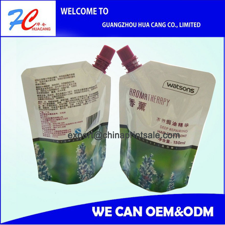 High quality detergent spout pouch liquid bag,standing pouch spout for detergent,Laundry Detergent Packaging