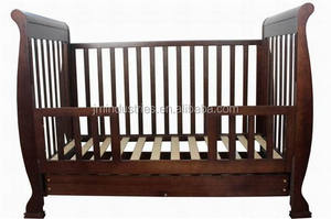 Old English-style Sleigh hospital adult baby crib