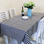Custom Printed Waterproof Linen Ruffled Party Dinner Table Cloth