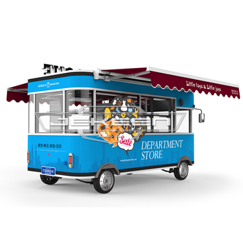 JEKEEN electric fast food truck mobile food cart trailer hot dog vending cart ice cream push cart of Exhibition truck-42