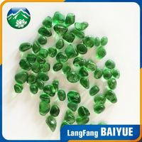 Different types colorful furnace irregular glass beads