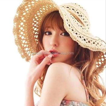 1b89f5b2583 2016 New Fashion Summer Women's Ladies' Foldable Wide Large Brim Floppy  Beach/ Hat Sun Straw Hat Cap Women - Buy Wide Brim Sombrero Straw Hat,Funny  ...