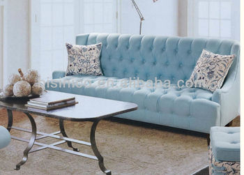 Fashion Design Living Room Furniture, Simple Stylish 3 Seater Sofa In Azure  Color, Japanese