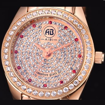 9e805d26b4 AIBI Bling Bling Diamonds Amazon Online Shopping Lady Watch / Ladies Watches