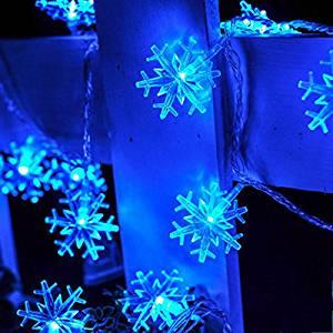 guchina 10m 100 led snowflake string fairy lights ac110v220v 8 lighting models christmas home