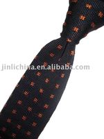 Black and red spot knitted 100% silk ties