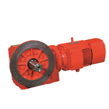 Long Service Life Helical Bevel Geared Motor 12~24V DC gearbox reducers motor