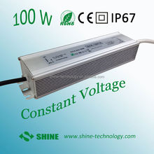 High quality 12V 24v 100w led switching power supply for led strip and p10 led module, waterproof ip67 led driver power supply