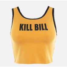 Обрезанные сексуальные женские топы на бретелях, кружевные короткие футболки без рукавов с буквенным принтом, женские желтые летние спорти...(Китай)