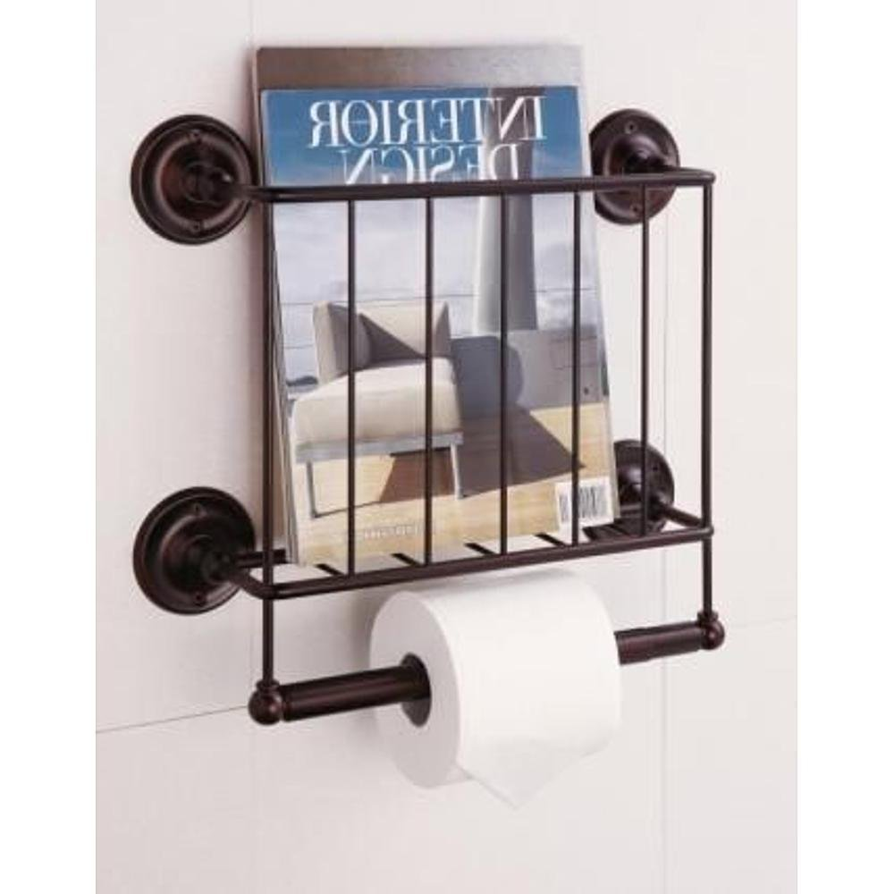 Magazine Rack With Toilet Paper Holder