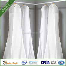 Clear plastic Garment bag/shoulder cover/dress bag