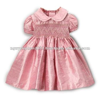 2770c01b5 Pink Floral Smocked Silk Dress - Infant,Toddler & Girls - Buy ...