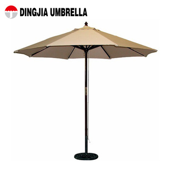 Top Quality Hot Wooden Pole Beach Umbrella Promotional