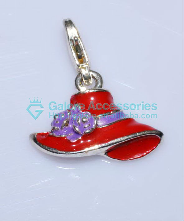 2013 newest silver plating china metal charms with lobster clasp