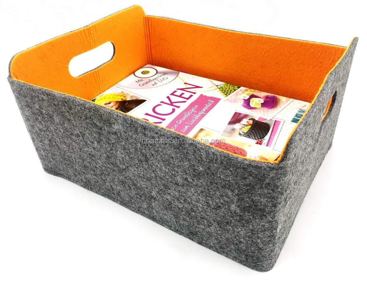 Sistema de Organizaci/ón para Cajones Escritorio de Maquillaje ZUQ Organizador de Cajones de Fieltro Juego de 5 Fieltro Cesta Bandejas de Almacenamiento Gris
