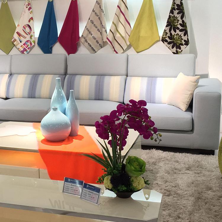 moderno tessuto piccolo divano ad angolo uno due tre posti divano ... - Divano Set Piccolo Angolo