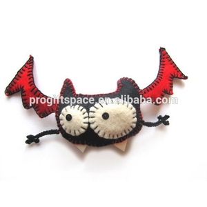 hot best selling new products fabric wholesale handmade bat ornaments felt ornaments halloween gift made in China for promotion