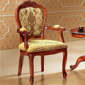 Delightful Antique Carved Flower Classic Armchair | European Style Chair