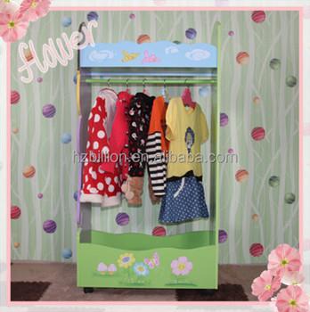 11f05b33777c18 Lifestyle und Deluxe Kinder Holz Prinzessin Mantel Rack Mit Kleiderbügel  kinder möbel