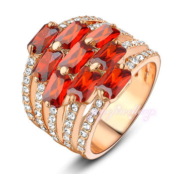 Red stone saidi gold jewelry fancy design dubai gold ring designs