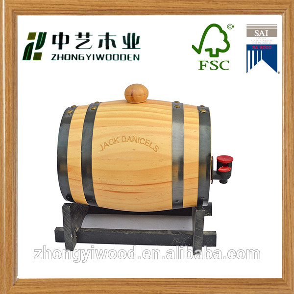 Trade assurance custom high quality varnish wooden ice beer barrel wholesale