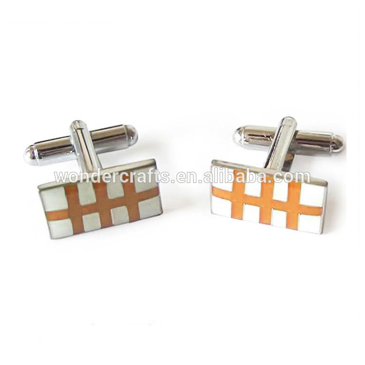 Europe new style custom logo rectangle stainless steel nickel plated engrave OEM ODM luxury business party shirt cufflink