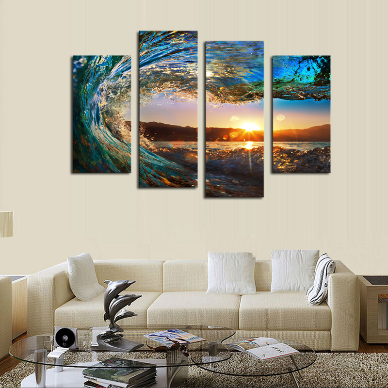 Sea Waves Paintings Reviews - Online Shopping Sea Waves