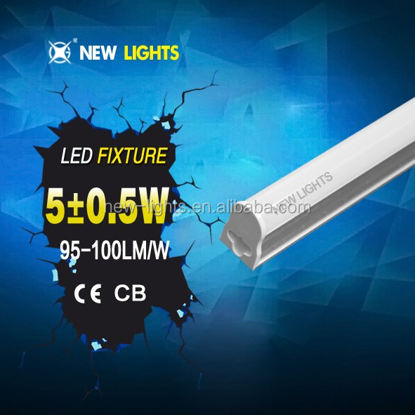 Easy Installation T5 Integrated Led Fixture Lamp Tube 6W with 2 Years Warrany T5 fixture 5w