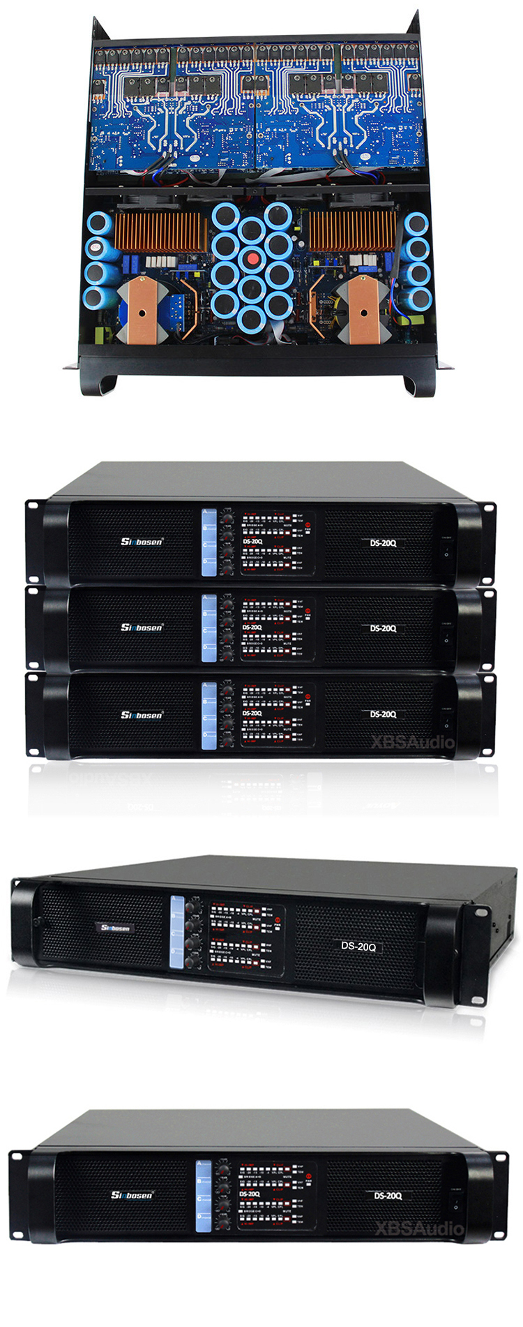 Sinbosen 4000 watts sound stereo amplifiers 4 channel DS-20Q professional audio power amplifier