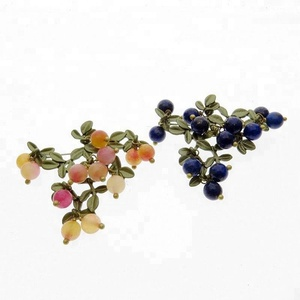 c99dd64a1b279 2018 New Arrivals Vintage Jewelry Brooch Green Bake Paint Multicolour  Lazuli Stone Brooch Scarves Buckle Accessories Brooches