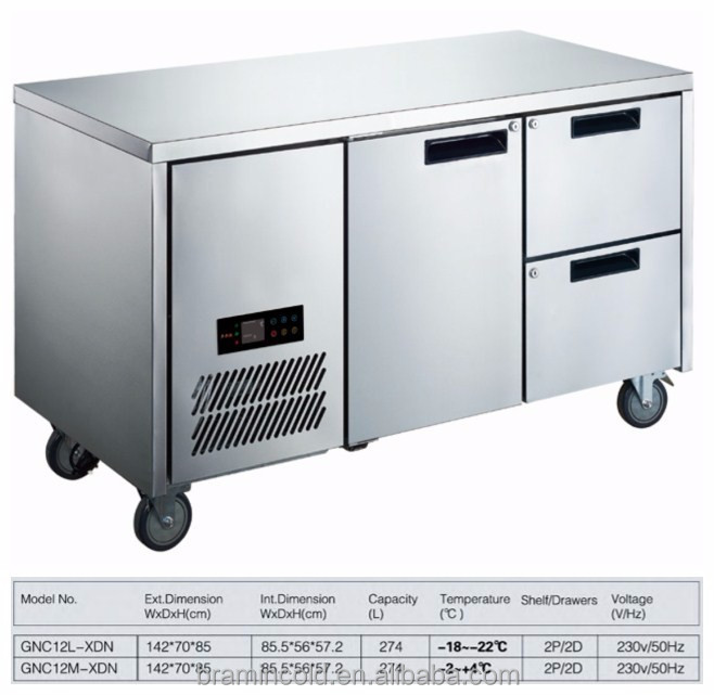 Restaurant Kitchen Fridge commercial horizontal refrigerator, commercial horizontal
