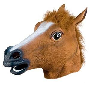 halloween mask Cosplay Halloween Horse Head Mask Latex Animal ZOO Party Costume Prop Toys Novel animal mask