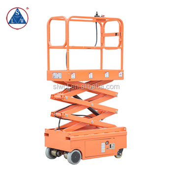 300kg Battery Operated Electric Self Propelled Scissor Lift, View self  propelled scissor lift, SLWCT Product Details from Zhongshan Shiliwang