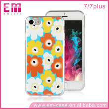 Free Sample Candy Color Sunflower TPU Face Cover for iPhone 7 7Plus Mobile Phone Case