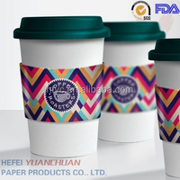 8oz 10oz 12oz 16oz coffee paper cups with ps lid