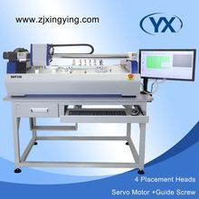 Easy Operation 4 Heads Pick and Place Device Visual Placement Equipment Automatic PCB Machine with High Precision JUKI Nozzle