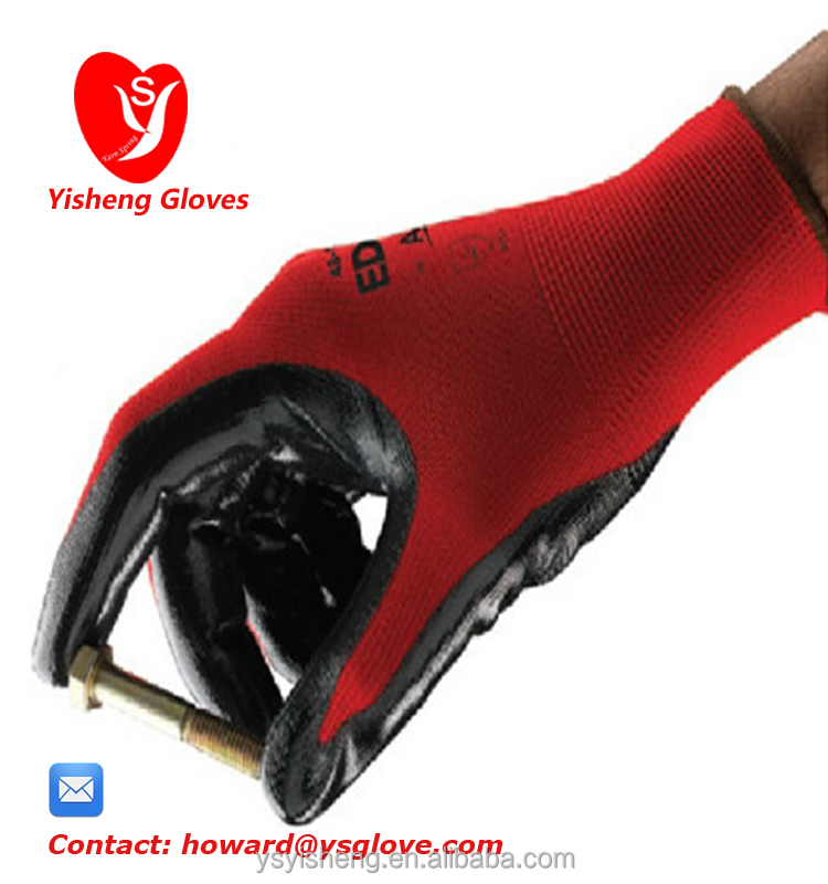 Nitrile coated best work <strong>gloves</strong> Mechanic hand protective Chemical resistant safety <strong>gloves</strong>