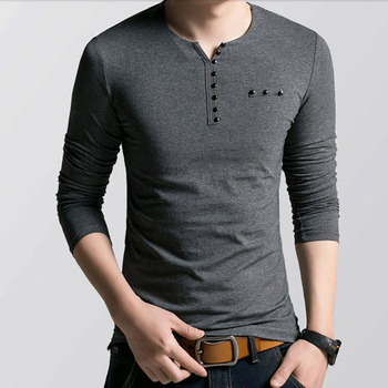 e08cda908f12 Wholesale t shirt Printing mens muscle fit shirts bulk v-neck with button  men cotton