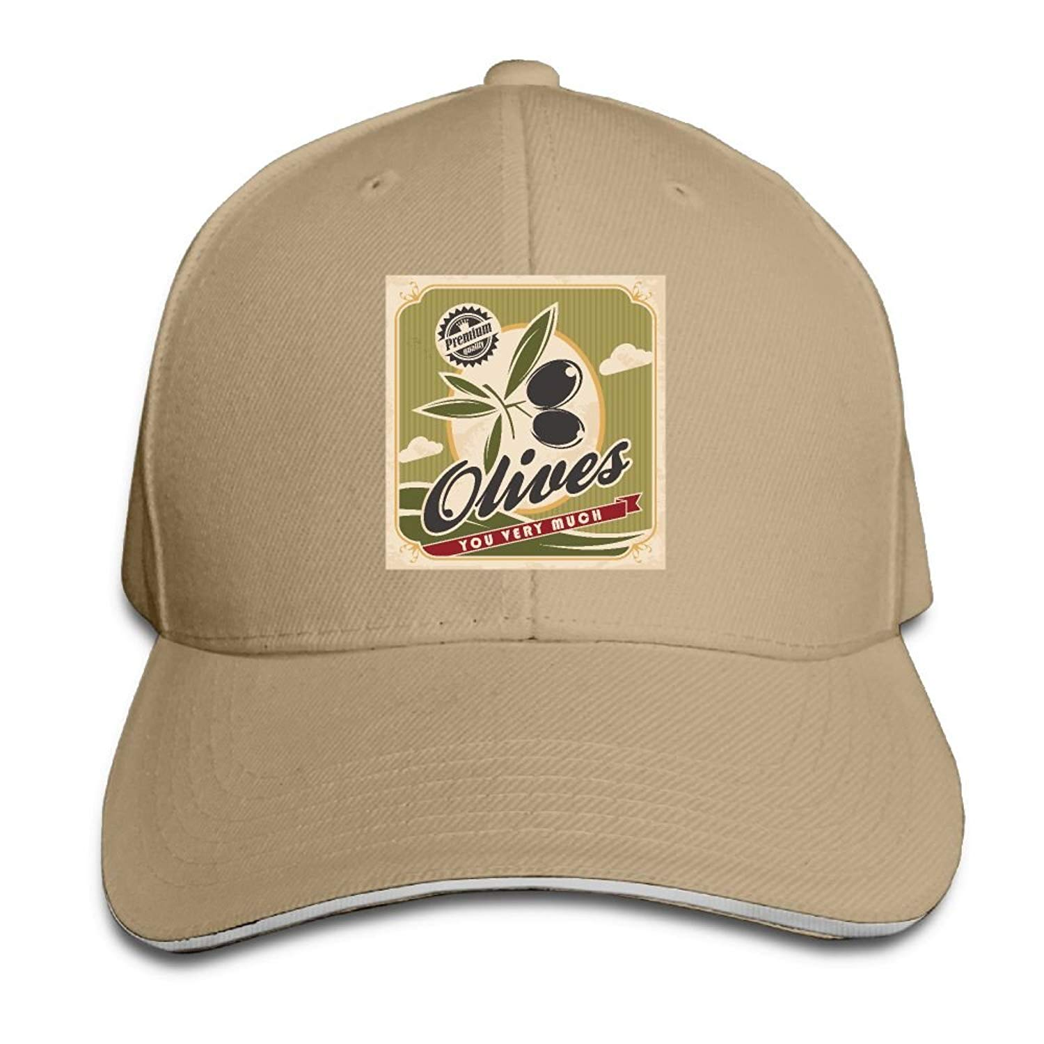 a417d3110c96d Get Quotations · Olive You Very Much Snapback Hats Sunscreen Dad Adjustable  Caps