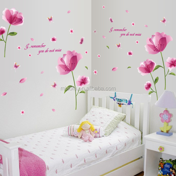 removable diy flower 3d wall stickers online india - buy 3d wall