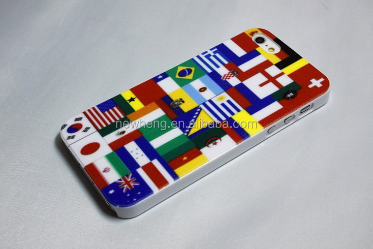 New Design Phone Case for IPhone 5S Designed TPU Cover With Brazil World Cup Patterns