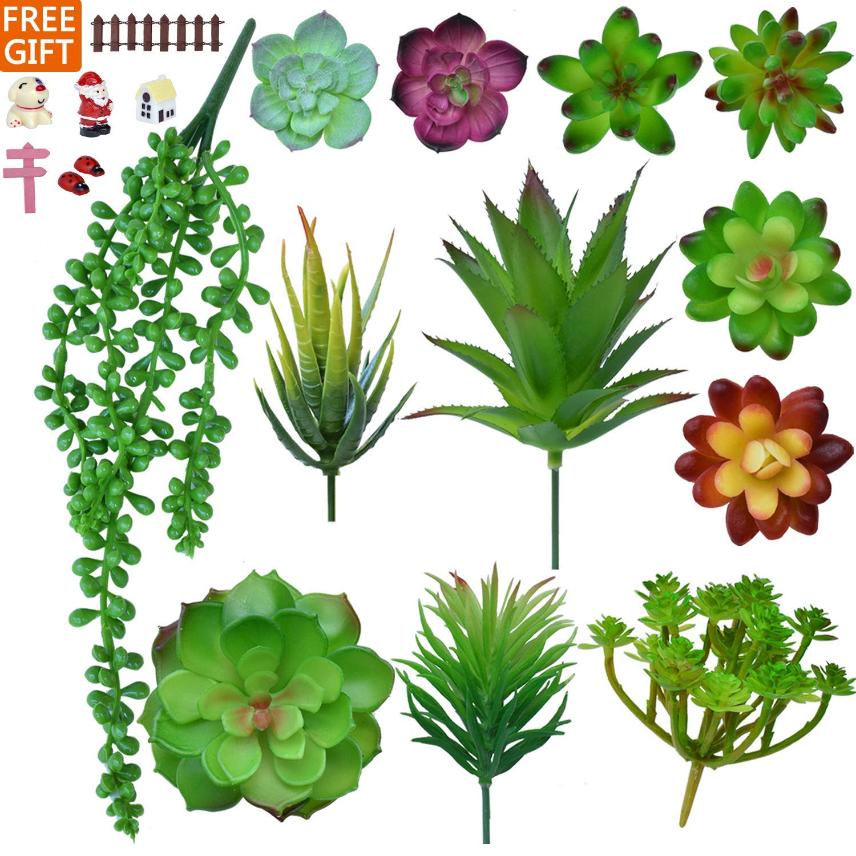 Artificial Succulent Plants,Fake Succulents for Decoration,DIY,12 PCS