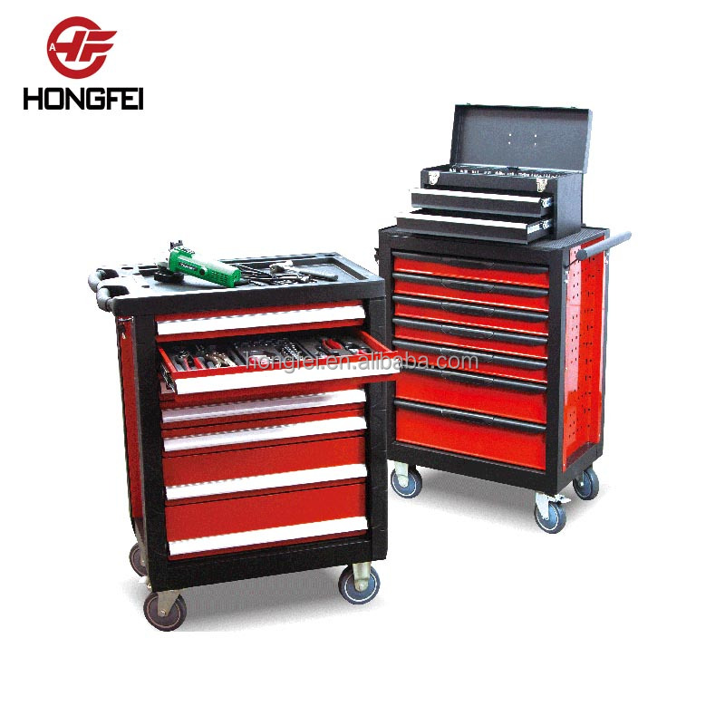 Roller Steel Tool Cabinet with Hand Tool Set