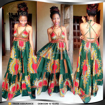 2017 China New Fashion Designs Kitenge African Dress