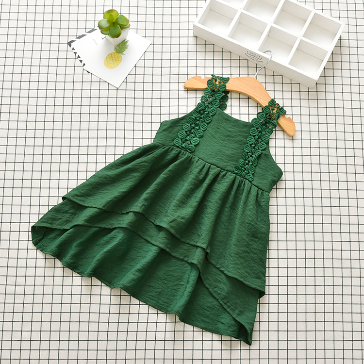 Fancy Sleeveless Lace Princess Baby Girl Party Dress 2017 New Fashion Bowknot Baby Girl Stocks