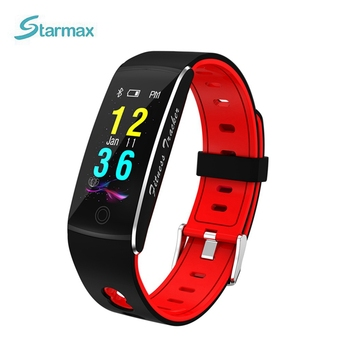 0.96 Inch OLED Display Smart Band IP67 Waterproof Bluetooth Smart Bracelet Remote Camera Heart Rate Sleep Monitor for Android