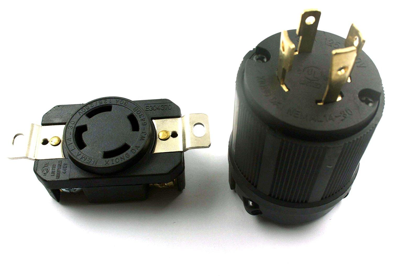 Get Quotations · XtremeAmazing GENERATOR RV AC PLUG & SOCKET L14-30 30 AMP  120V 220V MALE &